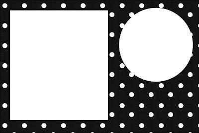 Preto E Branco Com Bolinhas Kit Completo Com Molduras Para