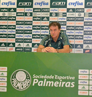 Cuca concede entrevista coletiva após o jogo contra o Cruzeiro