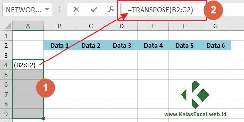 Contoh Fungsi Transpose Excel