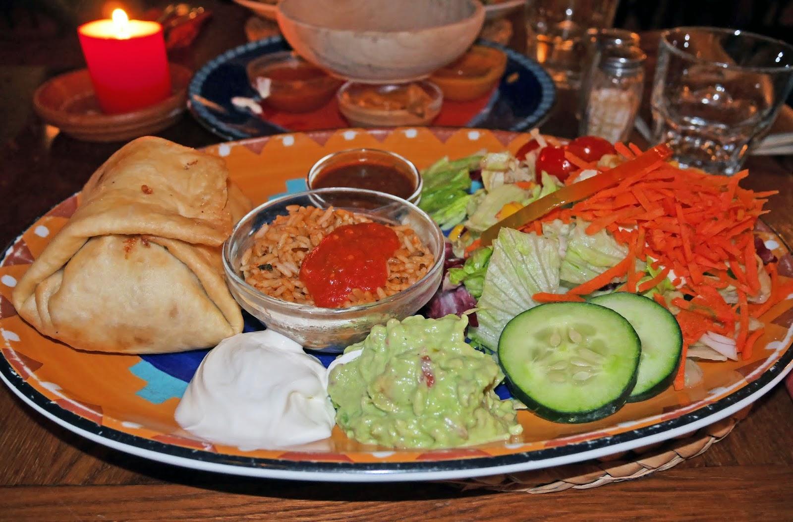 Vegetarian enchiladas at Joe Peña in Ljubljana, Slovenia