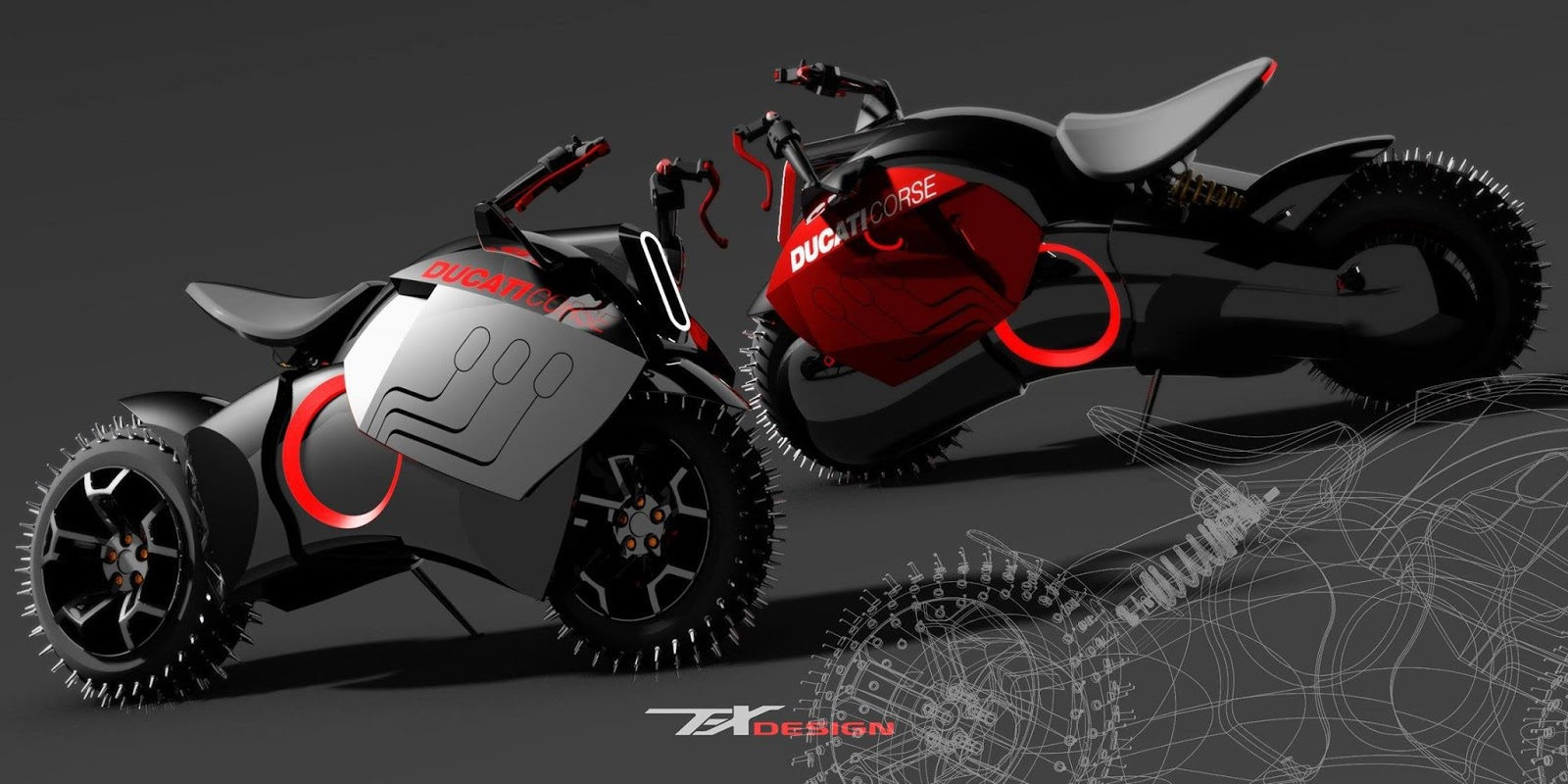 Rendering Image Of Ducati Electric Motorcycles By Paolo Tesio Picture From Http Bit Ly 1ych9ac