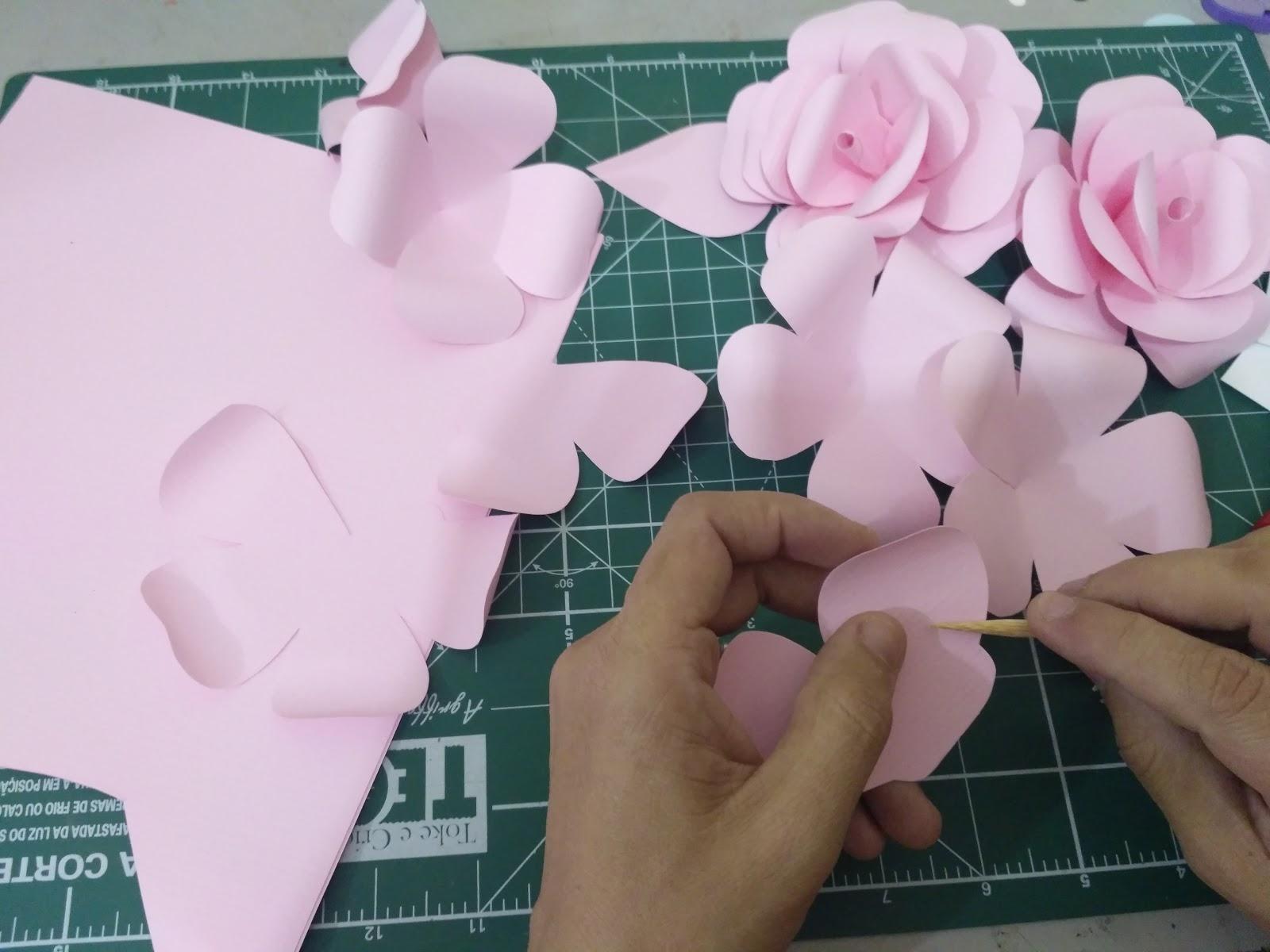 Artes Da Nanda Da Bahia Flores De Papel Para Bolo