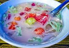 Resep minuman indonesia es rumput laut spesial (istimewa) praktis mudah segar, enak, nikmat, legit