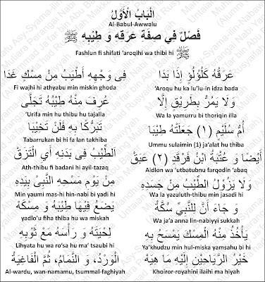 Keringat dan Wewangian Nabi Muhammad Rosululloh shallallahu 'alayhi wa sallam
