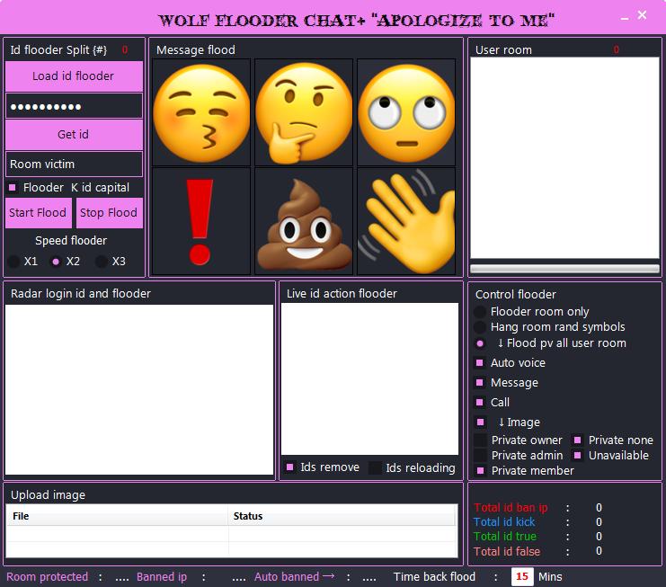 "Wolf flooder chat+ V5 "" Apologize to me "" / فلود لشات بلس الاصدار الخامس 2018-04-09_215735"