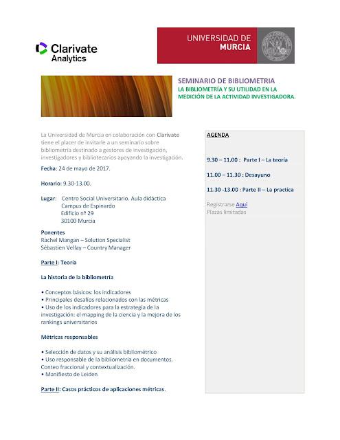 Seminario de Bibliometría.