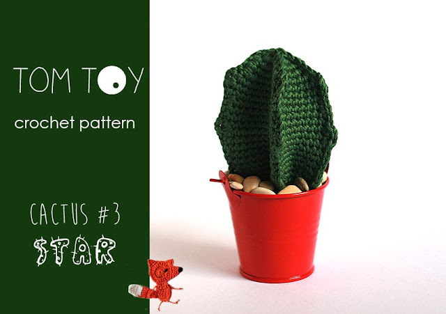 Crochet star cactus pattern by TomToy