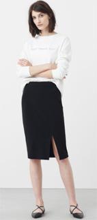 Falda lapiz de cintura elastica para oficina invierno 2017