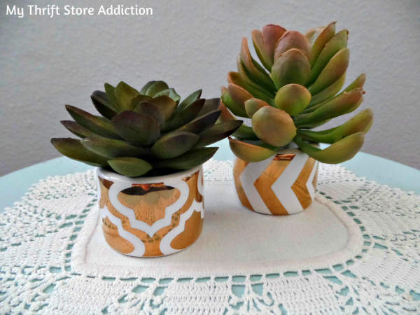 Napkin Ring Mini Succulent Pots  mythriftstoreaddiction.blogspot.com  Repurpose clearance napkin rings as mini succulent pots!