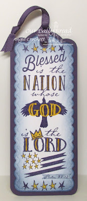ODBD The Nation Bible Journaling Stamp, ODBD Custom Bookmarks Dies, Created by Angie Crockett