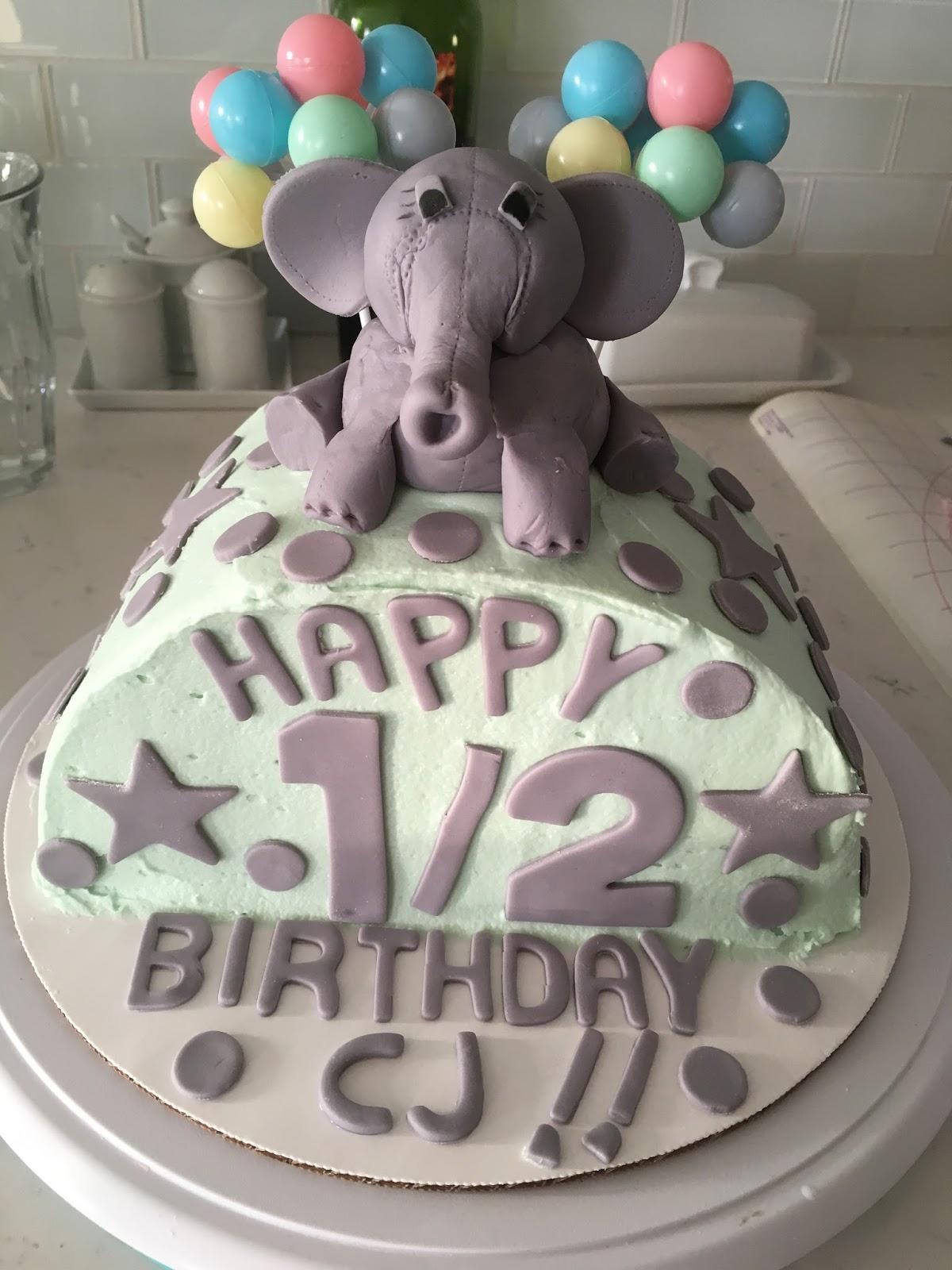 Heart Soul Flour Cjs Half Birthday Cake