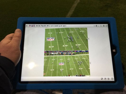 Tablet Hands-on with the NFL Surface Pro