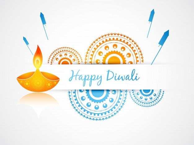 Diwali diyas crackers Greeting cards for greetings: