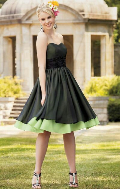 Jordan knee length stripless Dress