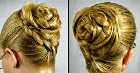 Admirable Swept Up Rose Braid Bun Hairstyle Step By Step Beauty And Short Hairstyles For Black Women Fulllsitofus