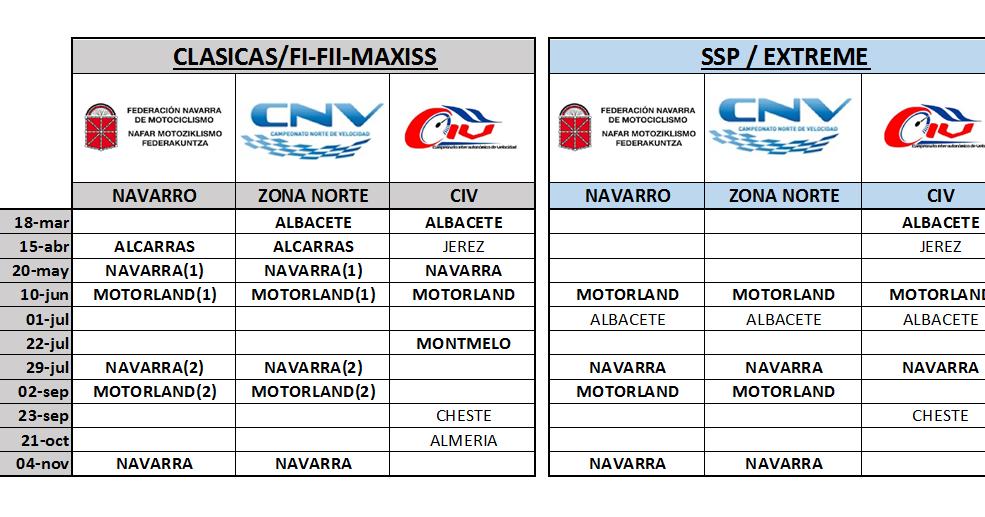 Civ Calendario.Escuela Conduccion Equipo Competicion Calendarios