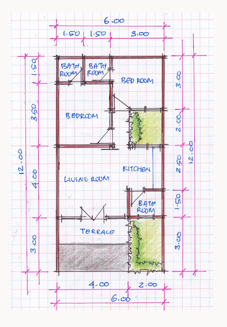 layout of house plan A-05b