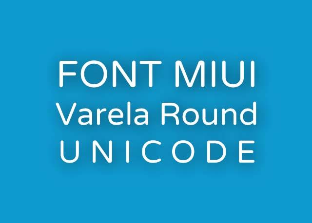 Font Varela Round UNICODE mtz