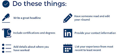 Things you should do on your resume
