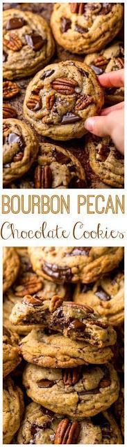 Brown Butter Bourbon Pecan Chocolate Chunk Cookies