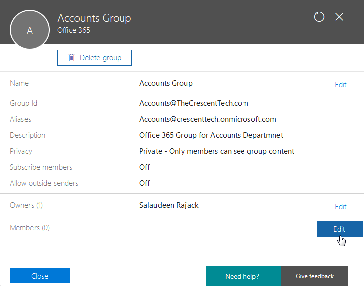 add user to office 365 group using powershell