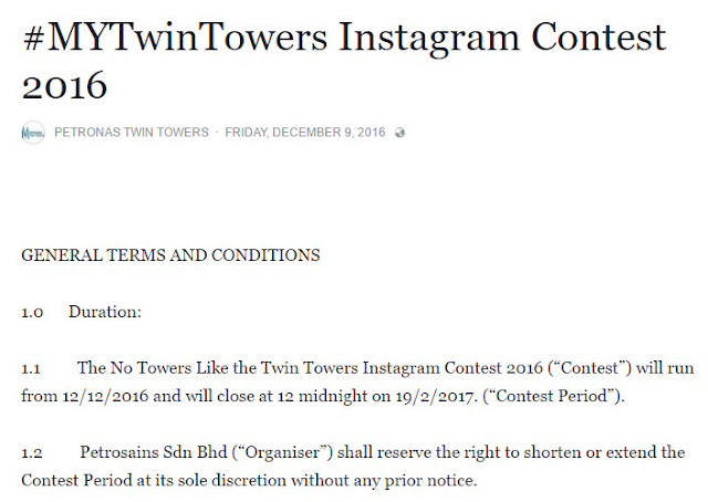 #MYTwinTowers Instagram Contest T&C