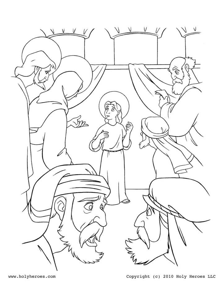 Famoso Colorear Niño Jesús En El Templo Regalo - Dibujos Para ...
