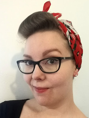 cute vintage headscarf for a retro look