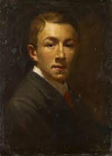 Gerald Leslie Brockhurst, Self Portrait, Portraits of Painters, Fine arts, Portraits of painters blog, Leslie Brockhurst, Paintings of ,Gerald Leslie Brockhurst Painter Gerald Leslie Brockhurst