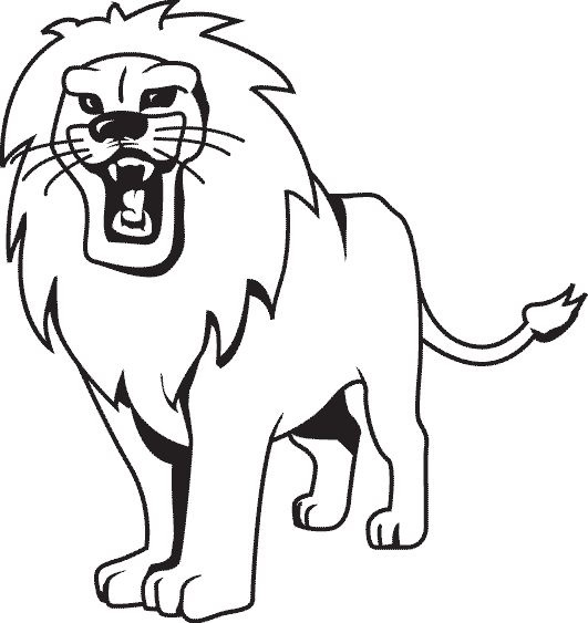 Tranh tô màu con sư tử dũng mãnh