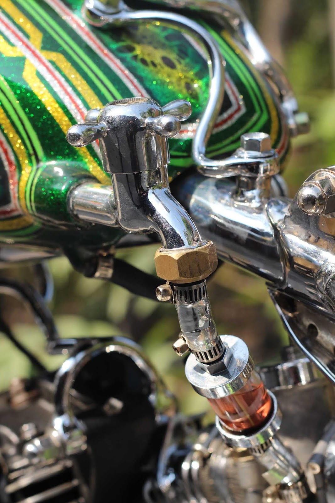 Custom Gastank Chopper Glitter Candy