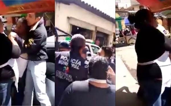 Policías detienen a 'peligrosisimo' vendedor de jicamas y pepinos.