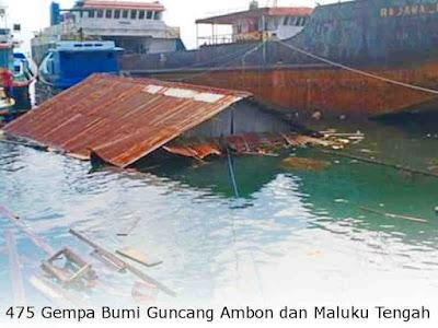 475 Gempa Bumi Guncang Ambon dan Maluku Tengah