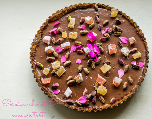 Persian Chocolate mousse tart