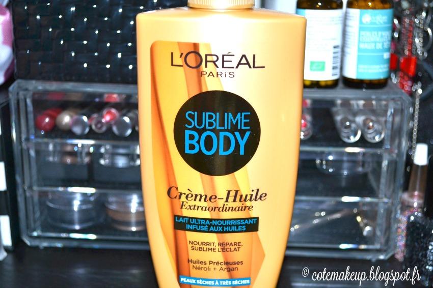 avis crème-huile extraordinaire sublime body l'oreal