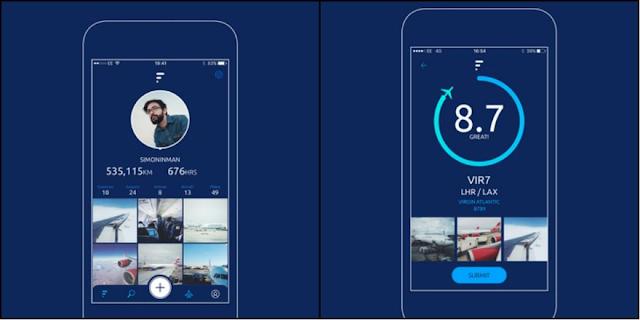 تطبيق Fllike على أجهزة آيفون للقيام بتقييم رحلات الطيران