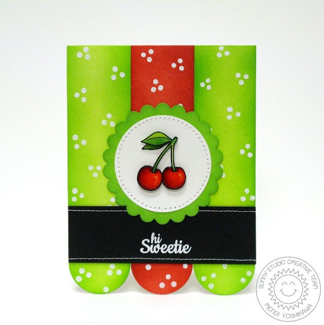 Sunny Studio Stamps: Fresh & Fruity Cherry Card by Mendi Yoshikawa