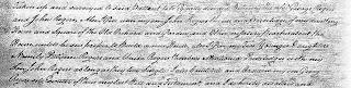 Excerpt of handwritten will
