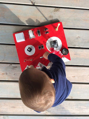 cool busy board present for toddler
