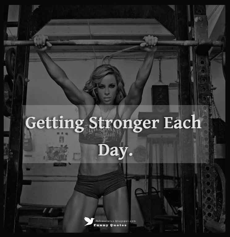 Getting stronger each day.