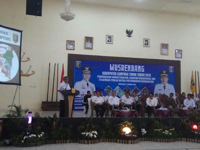 Musrenbang Kabupaten Lampung Timur 2018: Zaiful Sampaikan Indikator Ekonomi Makro Lamtim