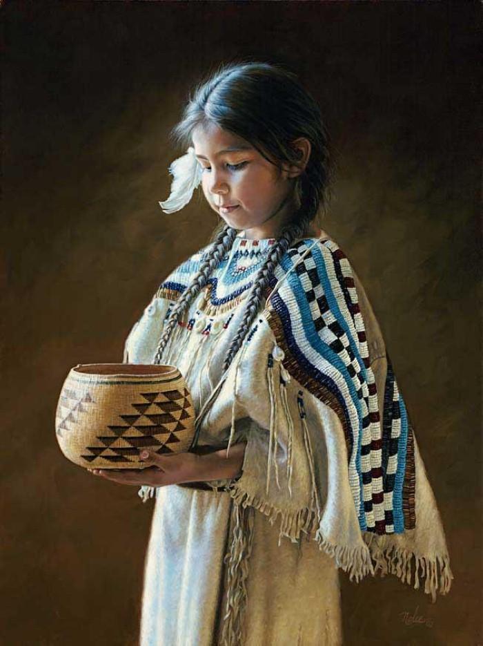 Картины об индейцах. Karen Noles 9