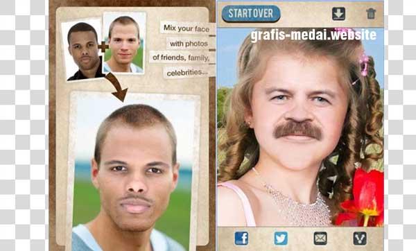 akhir ini kita sering melihat foto dengan  8 Aplikasi Andoroid Untuk Ganti Wajah