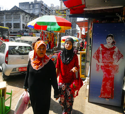 Yangon Anawrahta Street Shopping