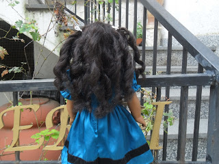 Doll hair recurled