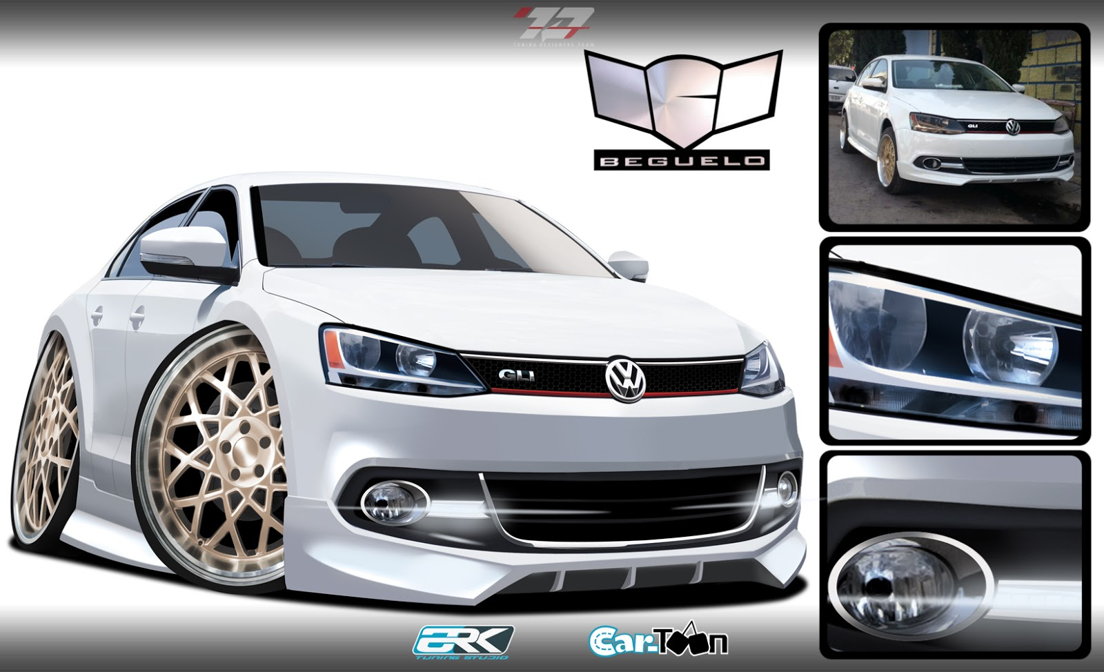 virtual tuning studio by ark llanes car toon vw jetta mk6. Black Bedroom Furniture Sets. Home Design Ideas
