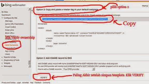 Tips dan Trik, Submit Url Blog di Bing Webmaster 4