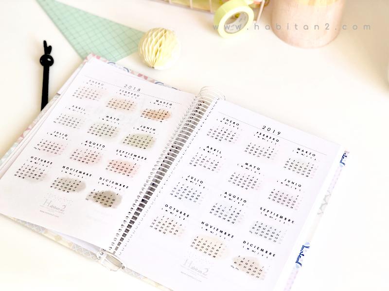 Nueva agenda personalizada 2019 by Habitan2 | Diseño y decoración de papelería y eventos