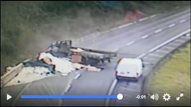 Mais um acidente é flagrado pelas câmeras da Rodovia Régis Bittencourt em Barra do Turvo