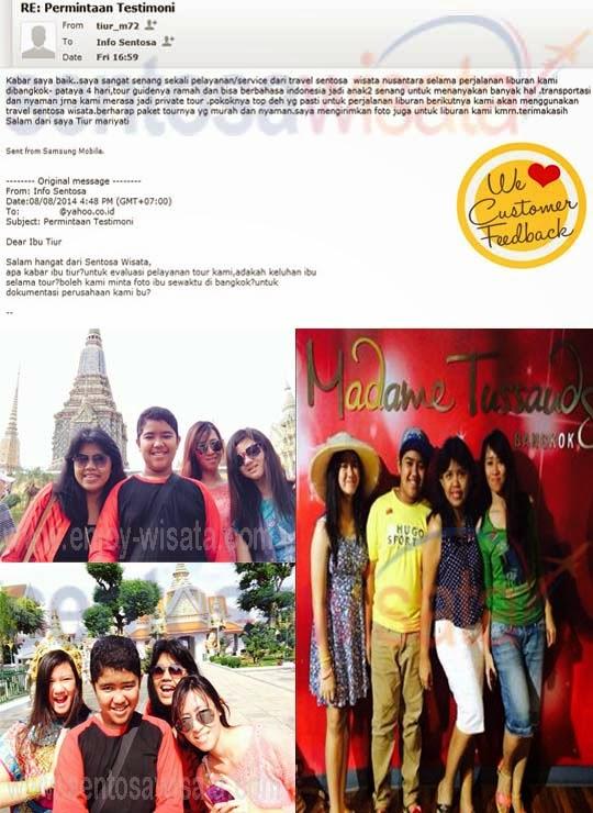 Testimoni Sentosa Wisata Bangkok Pattaya 2014